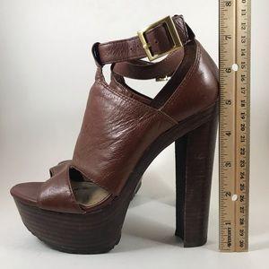 Jessica Simpson Cognac Platforms Size 5